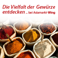 Asiamarkt-Wing Werbebanner Thema Curry