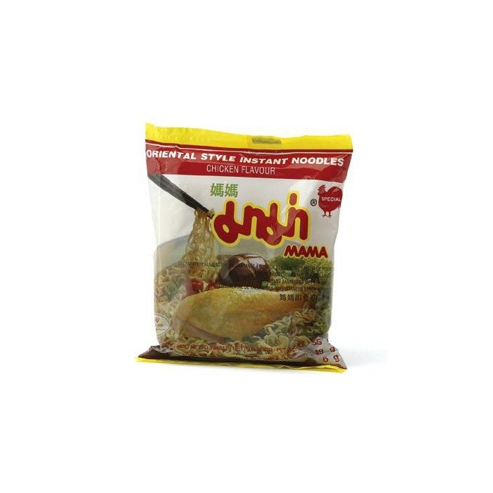 Instant Nudelsuppe mit Huhn Aroma - MAMA 55g