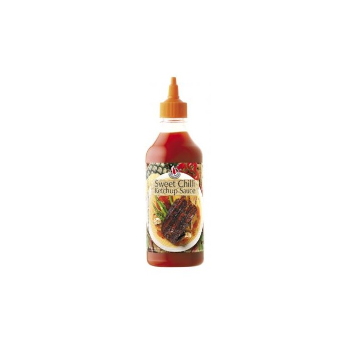 Sweet Chili Ketchup Sauce - Scharf-Würzige Chilisauce - Flying Goose - 455ml