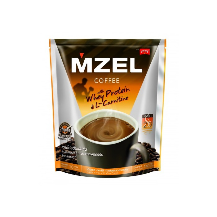MZEL Coffee with Whey Protein & L-Carnitin by FITNE 140g